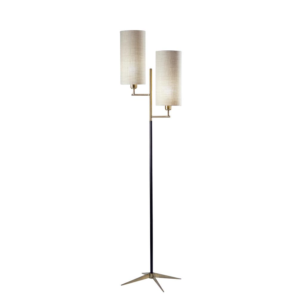 Adesso Davis 70 In Brass Floor Lamp 3474 01 The Home Depot