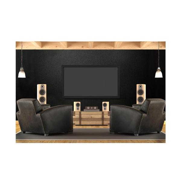 Hytex Quietwall 108 Sq Ft Black Acoustical Noise Control Textile Wall Covering And Home Theater Acoustic Sound Proofing 8pd6938bq0d The Home Depot