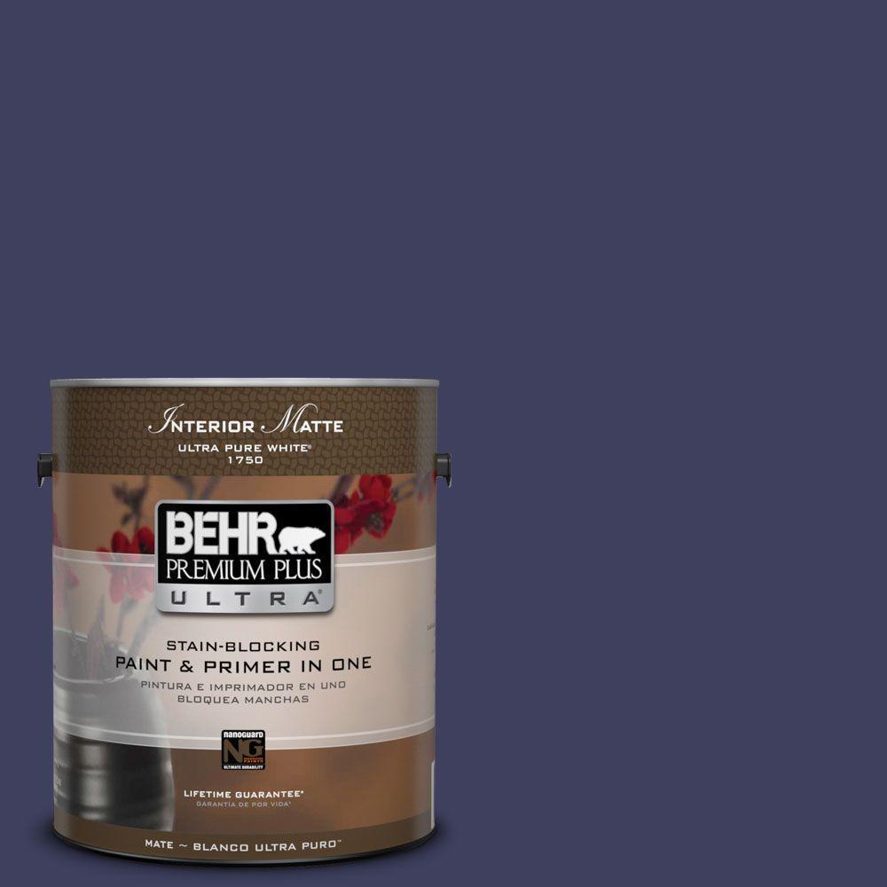 BEHR Premium Plus Ultra Home Decorators Collection 1 gal. #HDC-MD-01 Majestic Blue Flat/Matte Interior Paint