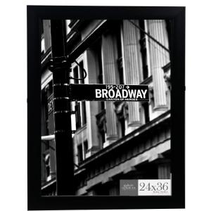 Pinnacle 24 inch x 36 inch Black Flat Ridged Poster Picture Frame by Pinnacle
