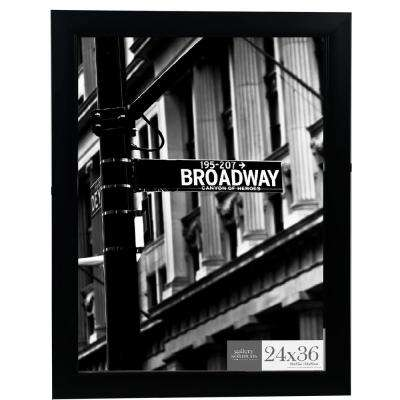 24 in. x 36 in. Black Flat Ridged Poster Picture Frame