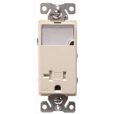 3-Wire Receptacle Combo Nightlight with Double-Pole Tamper Resistant, Almond