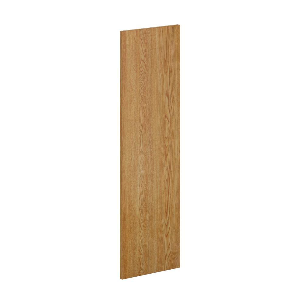 12 in. x 42 in. x 0.125 in. Wall Flush End Panel in Medium Oak