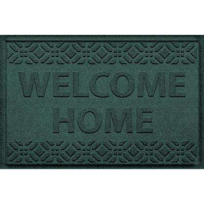 Superior Welcome Home Evergreen 24 In. X 36 In. Polypropylene Door Mat