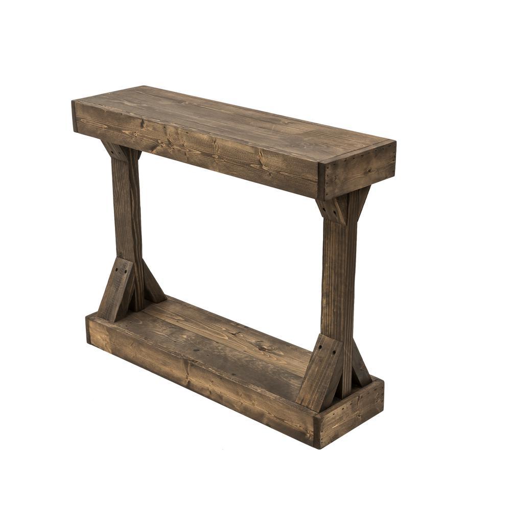 Barb Dark Walnut Small Console Table