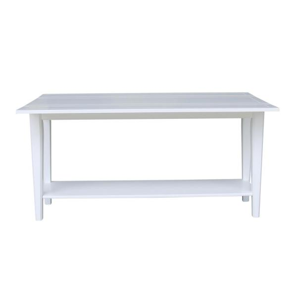 Prevail White Wood Flip Top Table