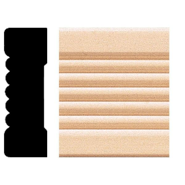 0.66 in. x 2.25 in. x 8 ft. Basswood Fluted Casing Moulding