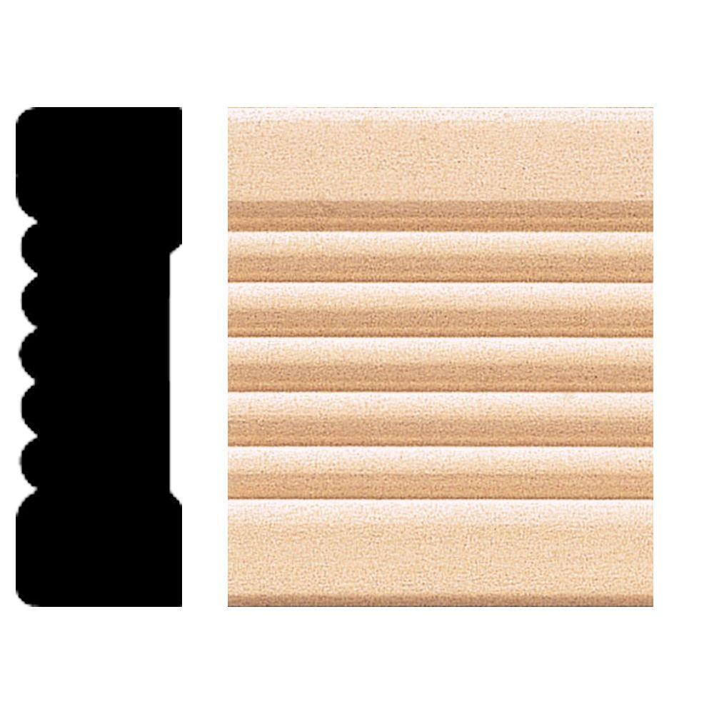 House of Fara 0.66 in. x 2.25 in. x 8 ft. Basswood Fluted Casing
