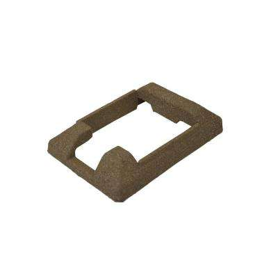 5 in. x 5 in. Composite Brown Fence End Post Concrete Bracket Skirt