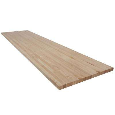 10 ft. L x 2 ft. 6 in. D x 1.75 in. T Butcher Block Countertop in Finished Maple