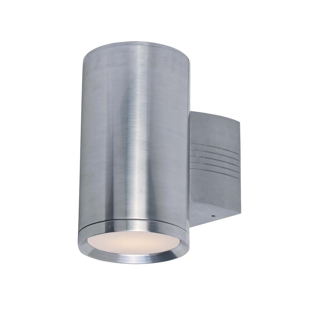 Maxim Lighting Morrow Bay 10.5 in. Wide 1-Light Earth Tone Outdoor Integrated LED Wall Lantern Sconce