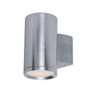 Morrow Bay 10.5 in. Wide 1-Light Earth Tone Outdoor Integrated LED Wall Lantern Sconce