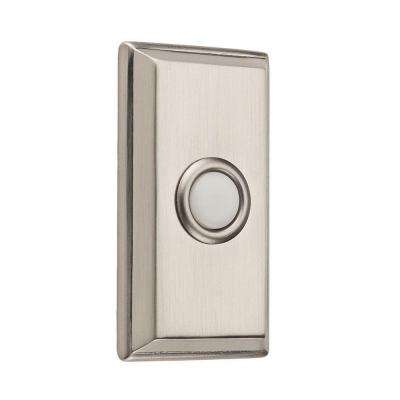Wired Rectangular Bell Button - Satin Nickel
