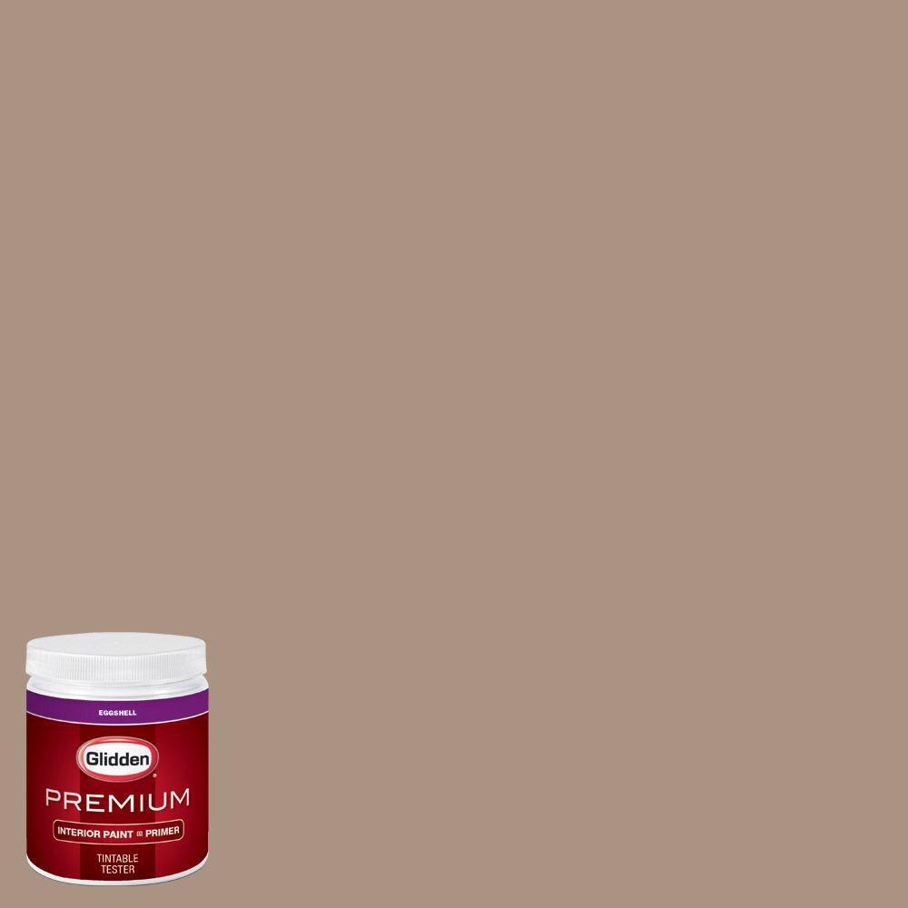 Glidden premium 8 oz hdgwn01d woodruff beige eggshell for Manhattan tan paint color