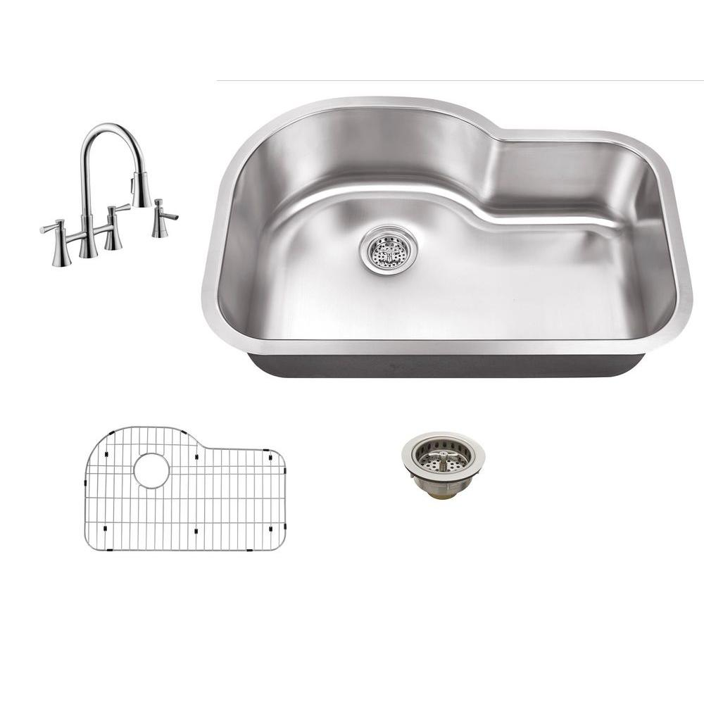 Schon All In One Undermount Stainless Steel 30 In 0 Hole
