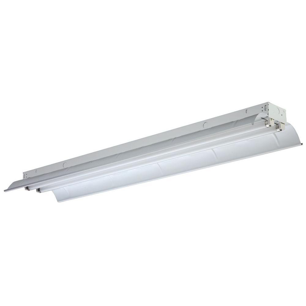 Can A Fluorescent Light Fixture Go Bad: Lithonia Lighting 2-Light Gloss White Fluorescent