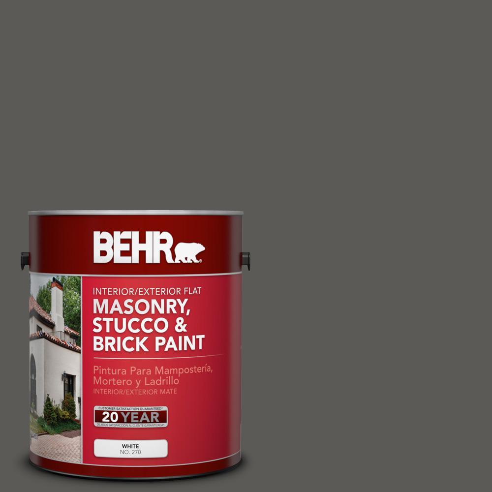 1 gal. #PPU18-19 Intellectual Flat Interior/Exterior Masonry, Stucco and Brick Paint