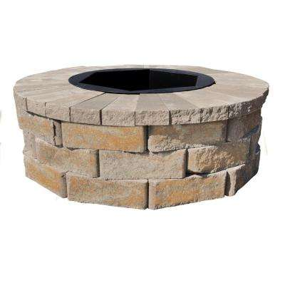 40 in. W x 14 in. H Rockwall Round Fire Pit Kit - Yukon