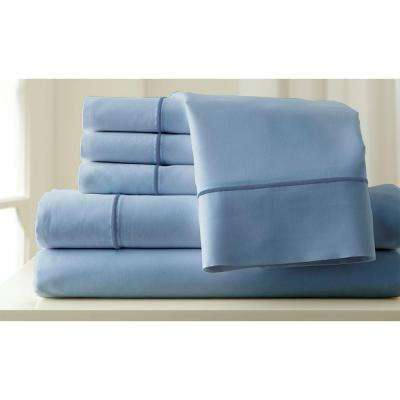 Sterling Blue/Celestial Blue 1000-Count King Sheet Set (6-Piece)