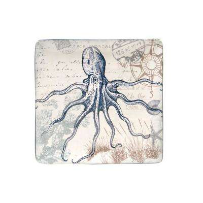 The Coastal Postcards Collection Square Platter