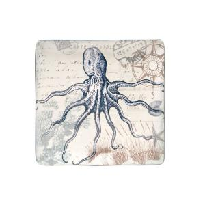 Certified International The Coastal Postcards Collection Square Platter by Certified International