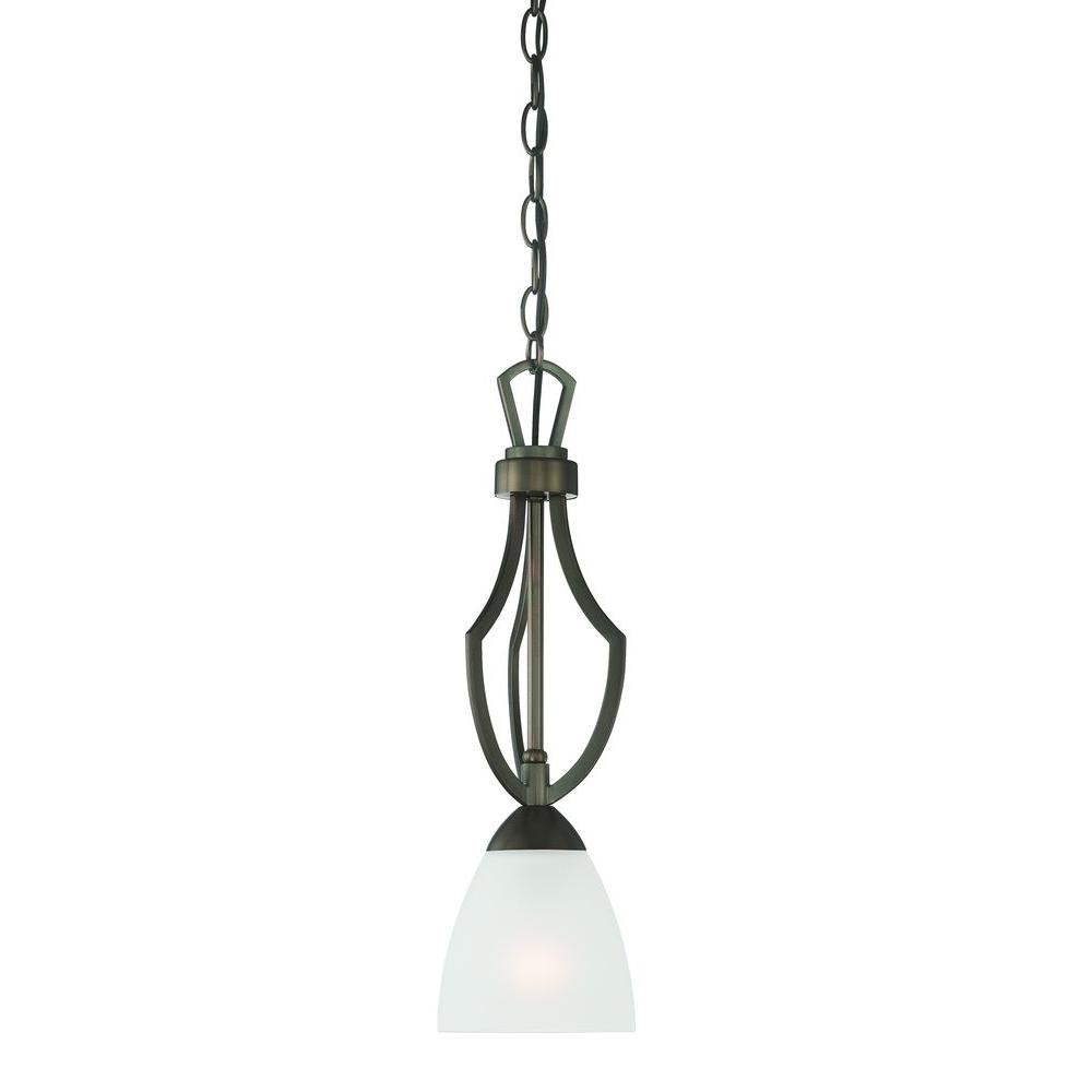 Thomas Lighting Charles 1-Light Oiled Bronze Pendant-DISCONTINUED