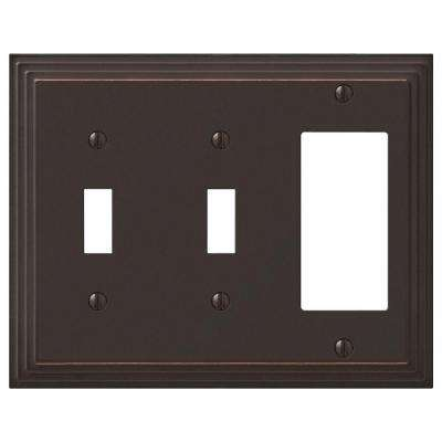 Steps 2 Toggle 1 Decora Wall Plate - Aged Bronze