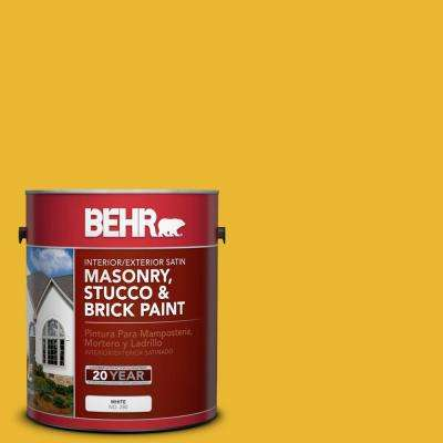 1 gal. #OSHA-6 OSHA SAFETY YELLOW Satin Interior/Exterior Masonry, Stucco and Brick Paint