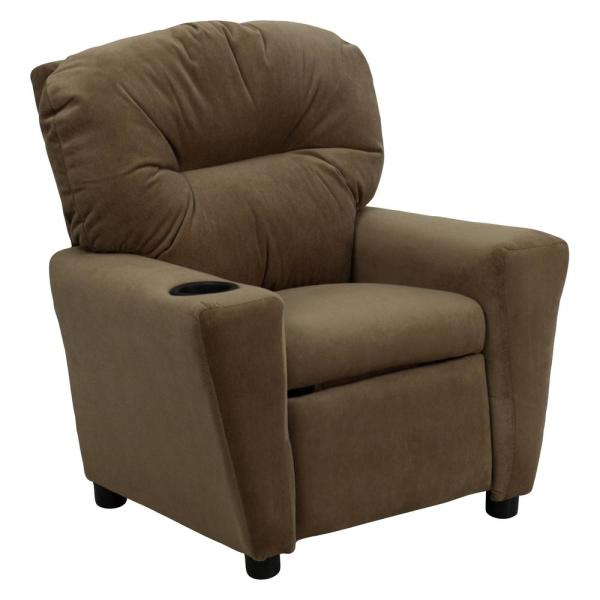 Carnegy Avenue Brown Microfiber Recliner CGA-BT-4948-BR-HD