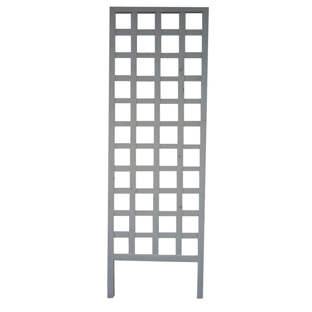72 in. x 24 in. White Wooden Ladder Trellis-PLTW2X6 - The Home Depot