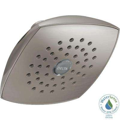 1-Spray 5-1/4 in. Fixed Shower Head with TouchClean in Stainless