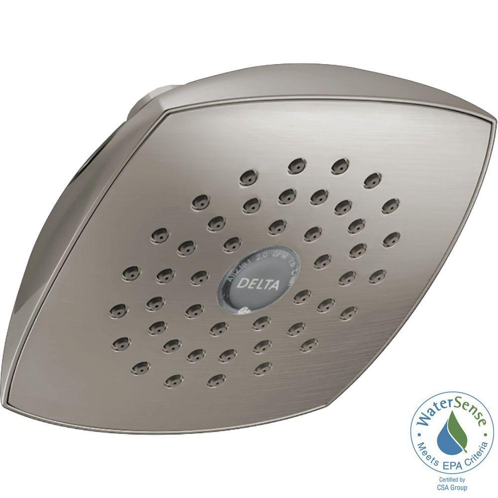 Delta 1-Spray 5-1/4 in. Fixed Shower Head with TouchClean in ...
