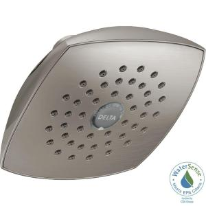 Delta 1-Spray 5-1/4 inch Fixed Shower Head with TouchClean in Stainless by Delta