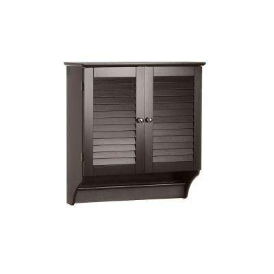 Ellsworth 23-41/50 in. W x 25 in. H x 8-43/50 in. D Bathroom Storage Wall Cabinet in Espresso