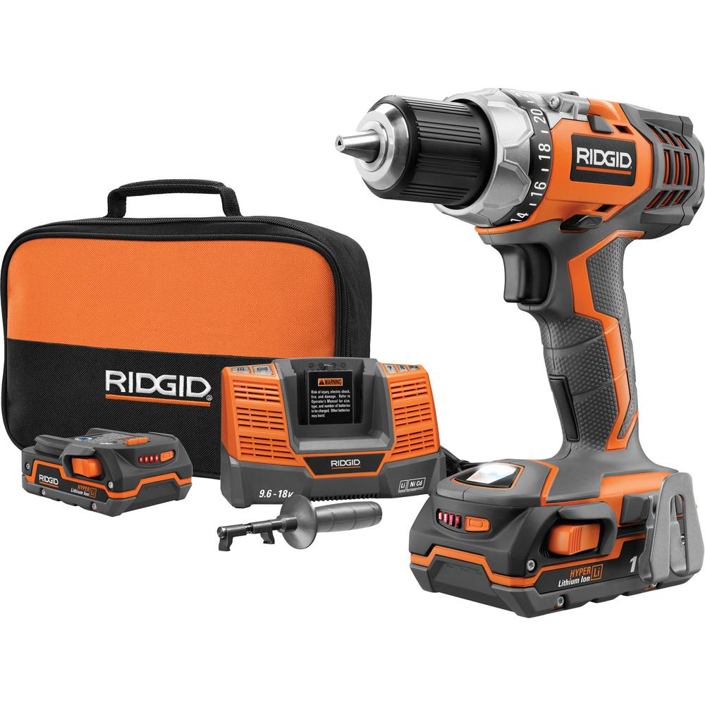 RIDGID Fuego 18-Volt Hyper Lithium-Ion 1/2 in. Compact Drill/Driver