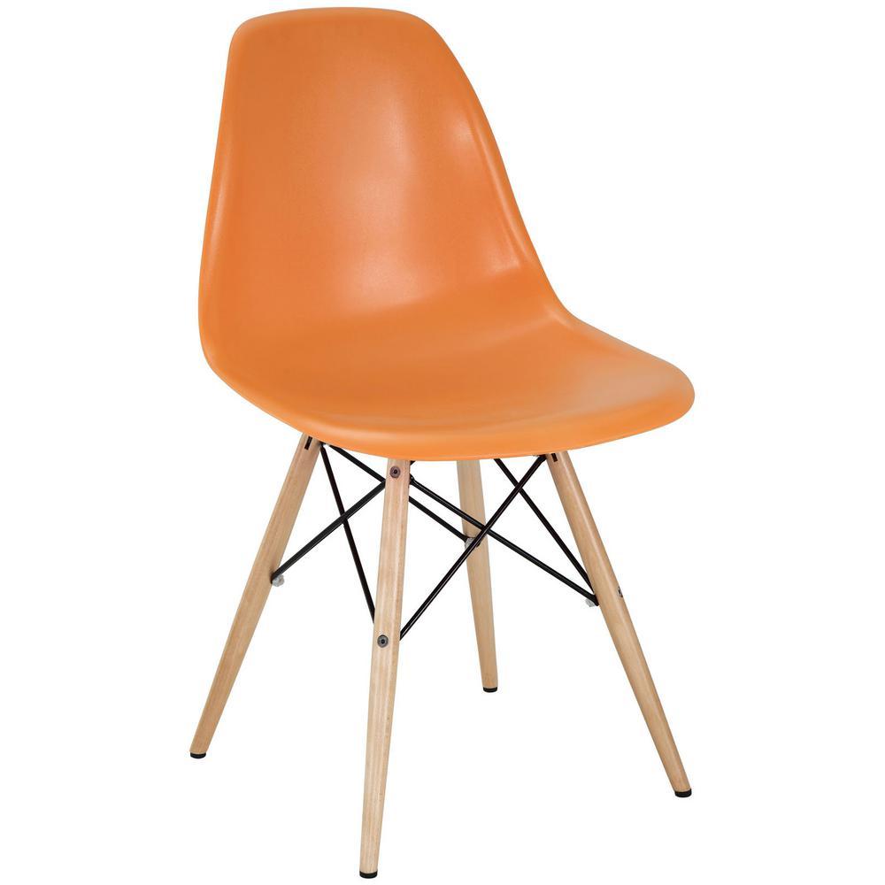 Pyramid Orange Dining Side Chair