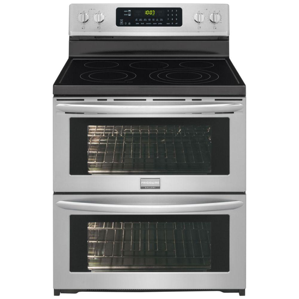 40 Inch Electric Range Part - 42: Double Oven Electric Range Symmetry And True Convection In SmudgeProof  Stainless Steel-FGEF306TPF - The Home Depot