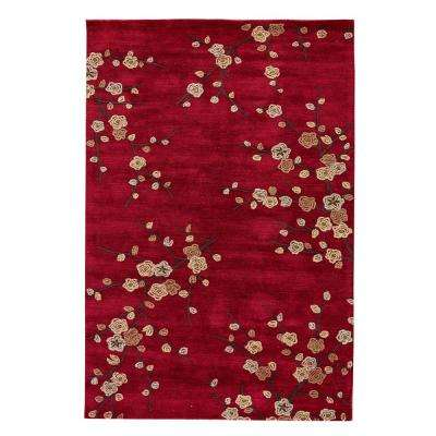 Chili Pepper 8 ft. x 10 ft. Floral Area Rug