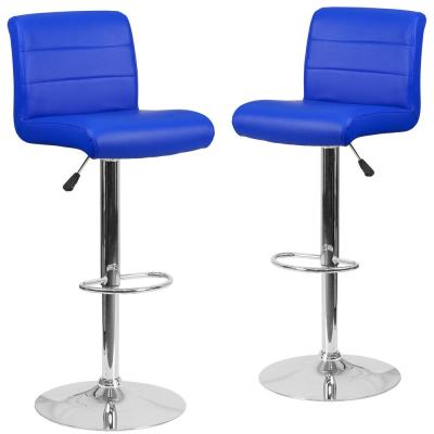 34.5 in. Blue Bar stool (Set of 2)