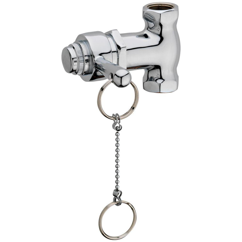 Homewerks Worldwide Self-Closing Shower Valve with Pull Chain in Chrome
