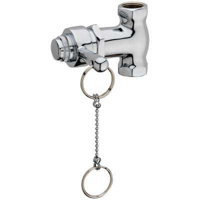 Self-Closing Shower Valve with Pull Chain in Chrome