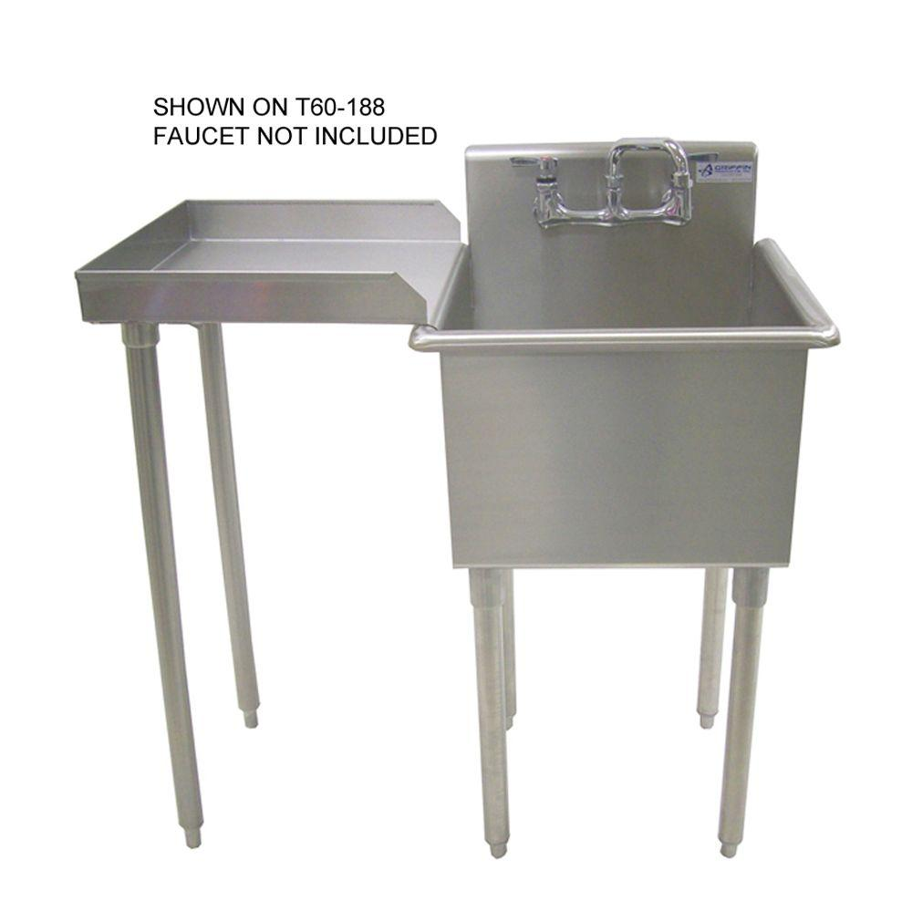 Griffin Products DR-Series 18x18 Stainless Steel Reversible Drainboard-DISCONTINUED