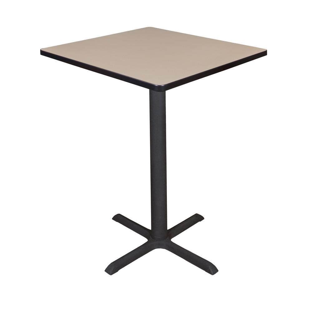 Cain Beige 30 in. Square Cafe Table