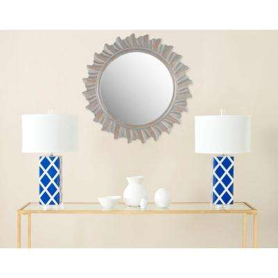 By the Sea 29 in. x 29 in. solid Wood Framed Mirror