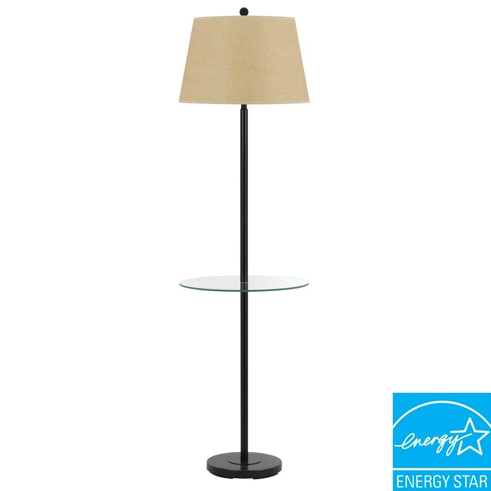 Andros Glass Table Lamp In Dark Bronze