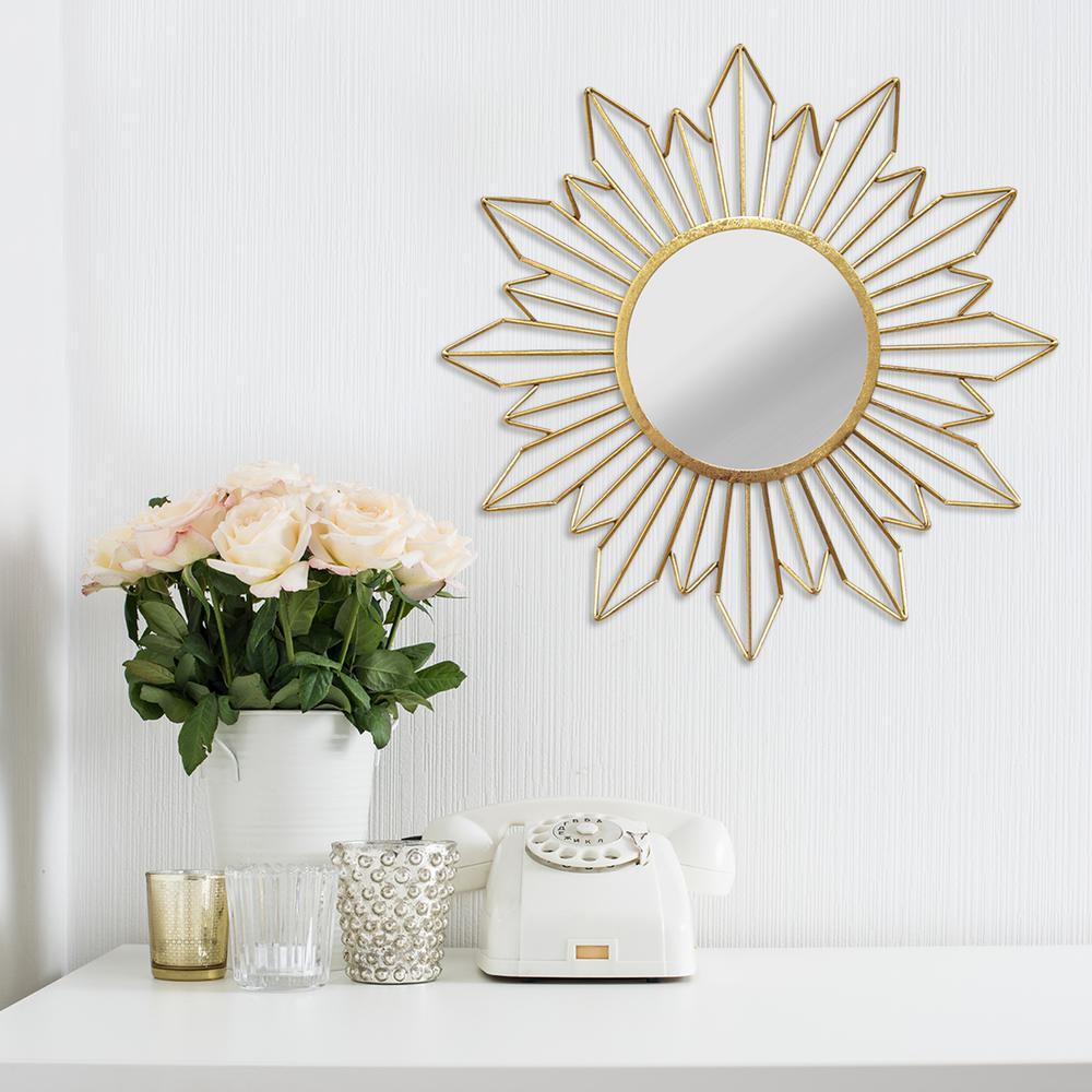 stratton home decor 26 in x 26 in olivia wall mirror s03885 the