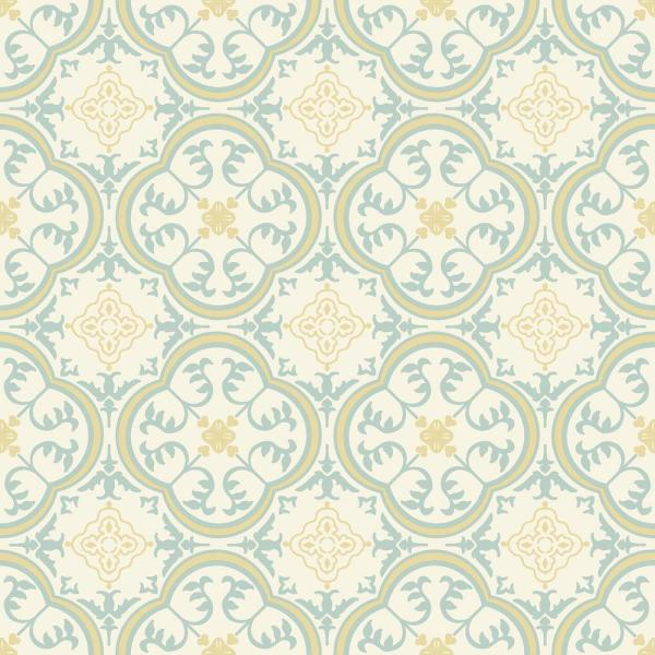 Soho Blue and Gold Decorative Residential/Light Commercial Vinyl Sheet Flooring 13.2ft. Wide x Cut to Length