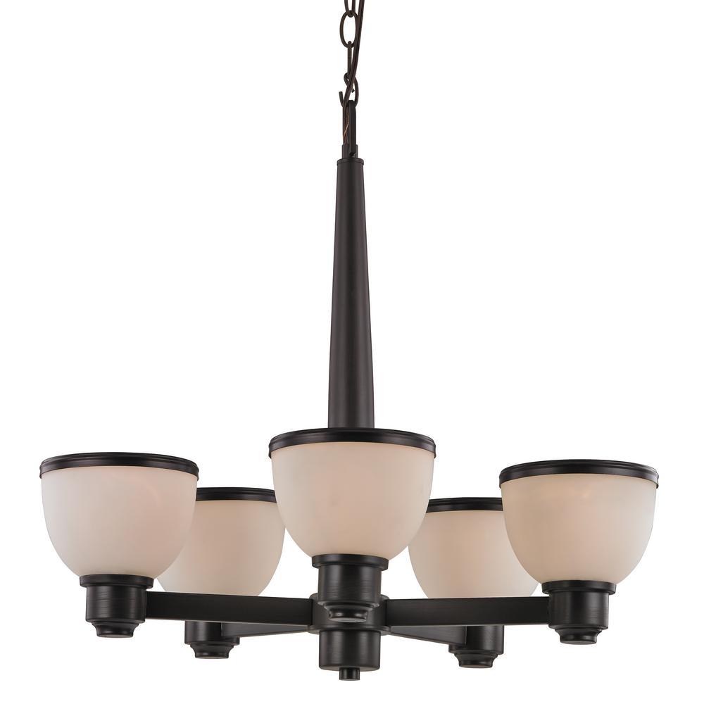 transglobe pierce 5 light bronze indoor chandelier 70715 rob the home depot. Black Bedroom Furniture Sets. Home Design Ideas