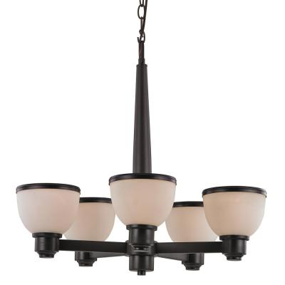 Pierce 5-Light Bronze Indoor Chandelier