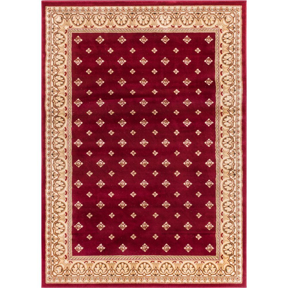 Well Woven Barclay Hudson Terrace Red 9 Ft X 13 Traditional Border Area Rug 548908 The Home Depot